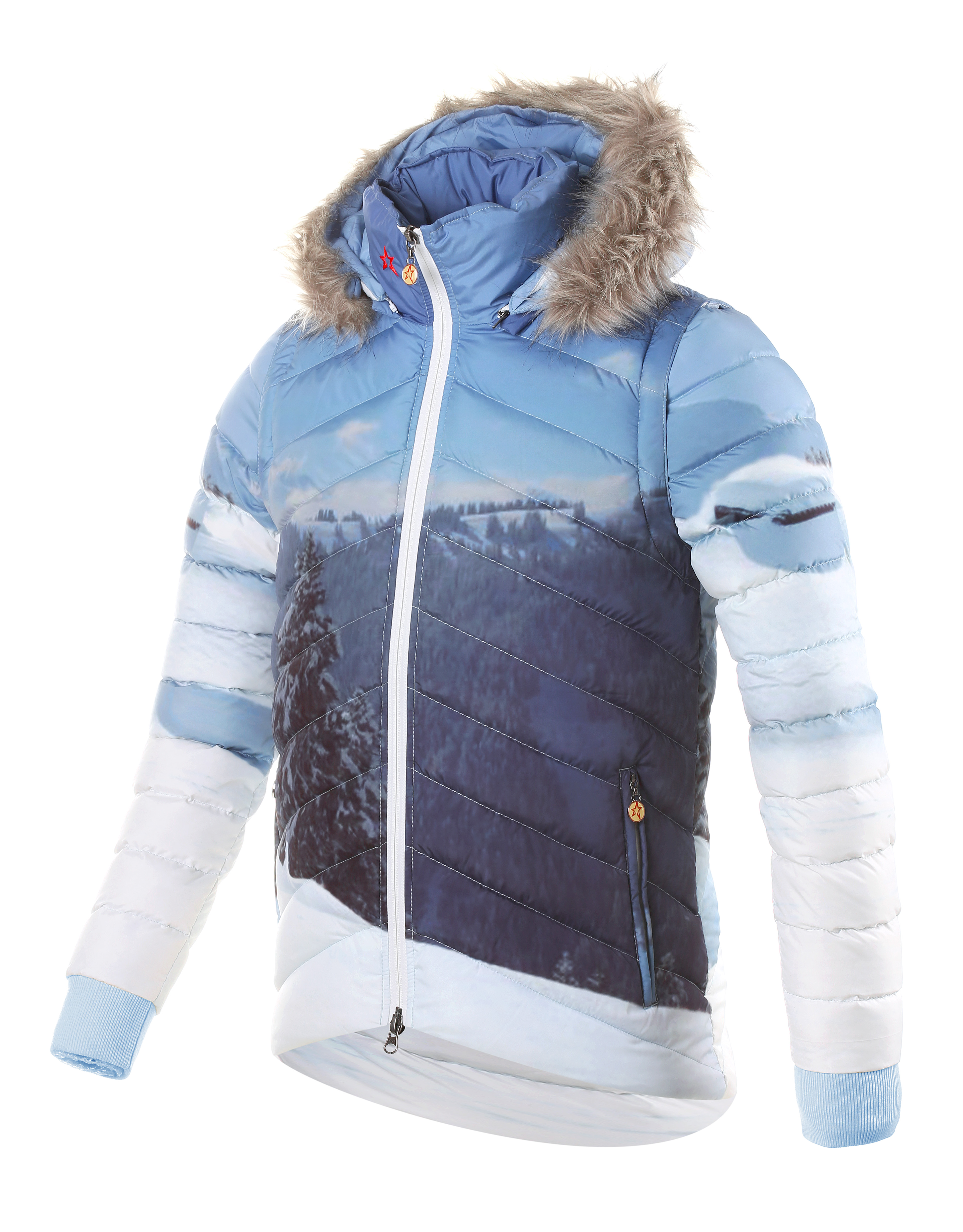Womens Christy Jacket Mountain Print