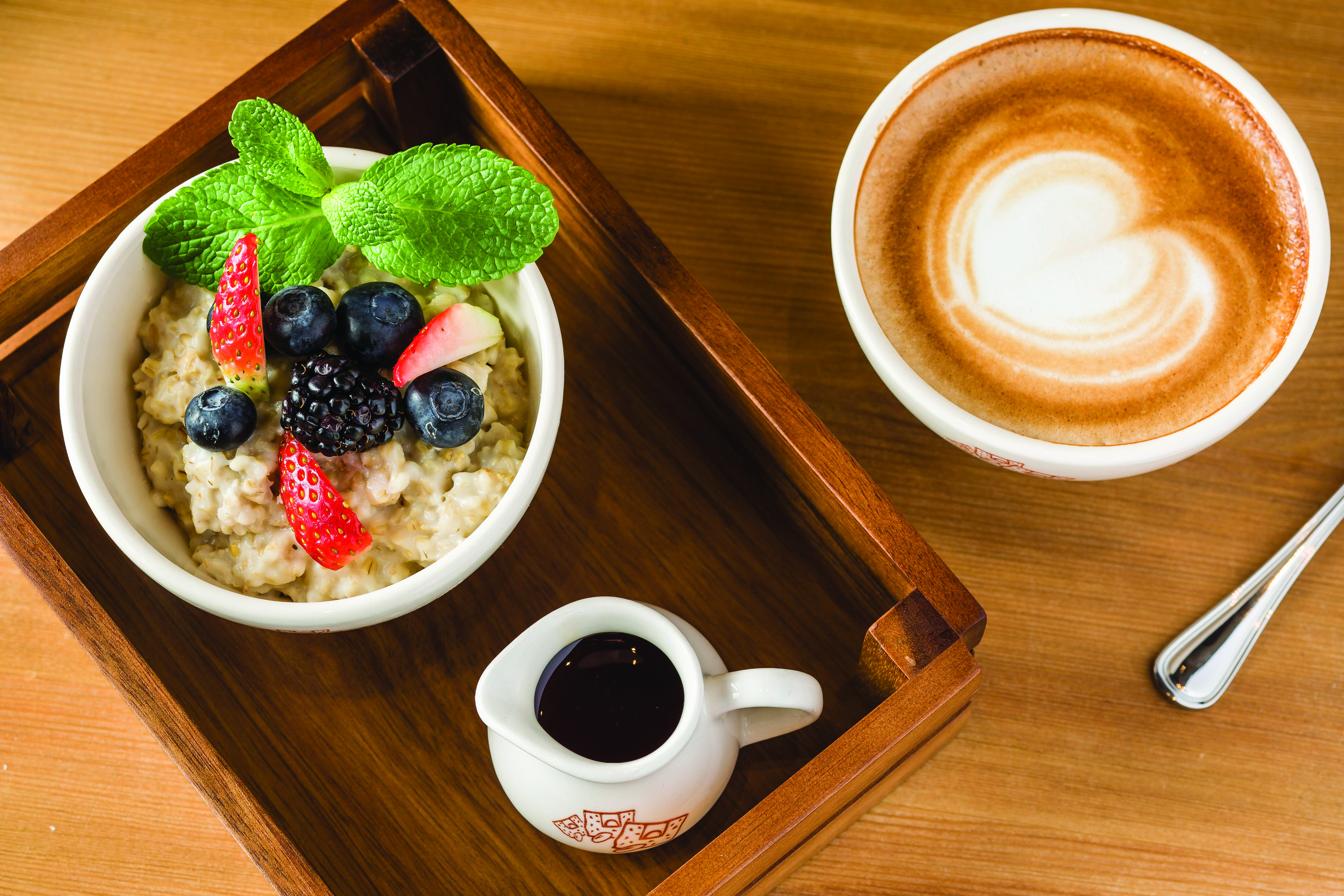 cmyk Organic Steel-Cut Oatmeal with fresh fruits - 1