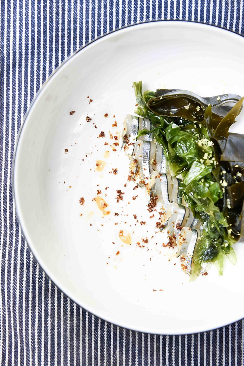 Kibinago salad at Okra