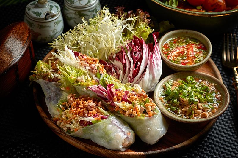 Mak Mak vegetarian spring rolls