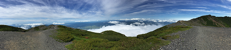 View from the summit of Mount Yotei