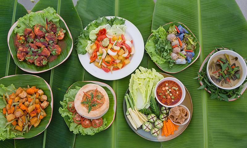 museflower-retreat-spa-chiang-rai-vegetarian-cuisine-buffet-copy