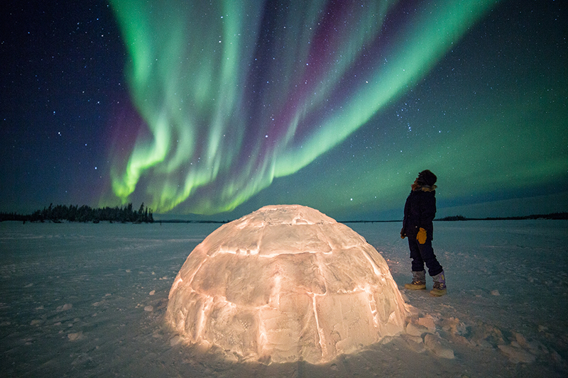 Igloo under Aurora copy