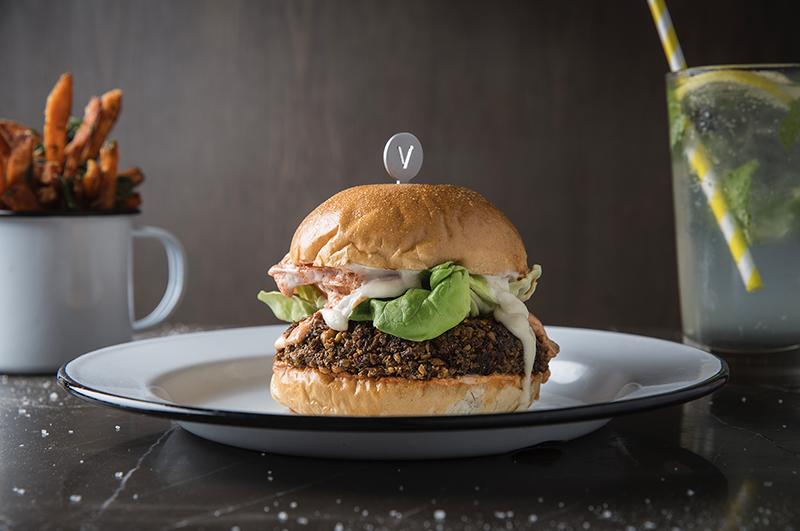Falafel burger beef & liberty