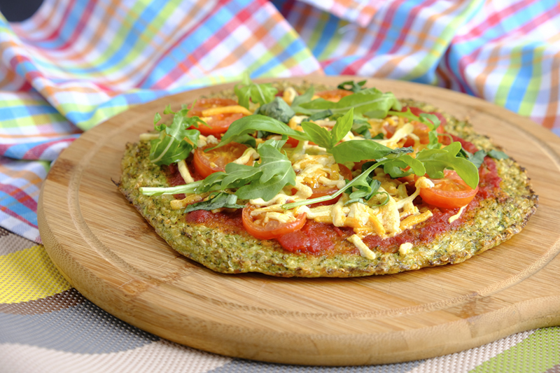 Broccoli Quinoa Crust Pizza