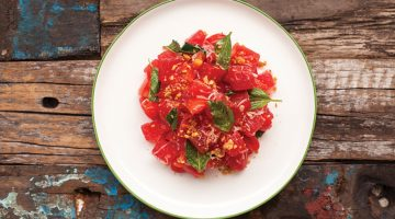 Recipe: Limewood's Compressed Watermelon Salad