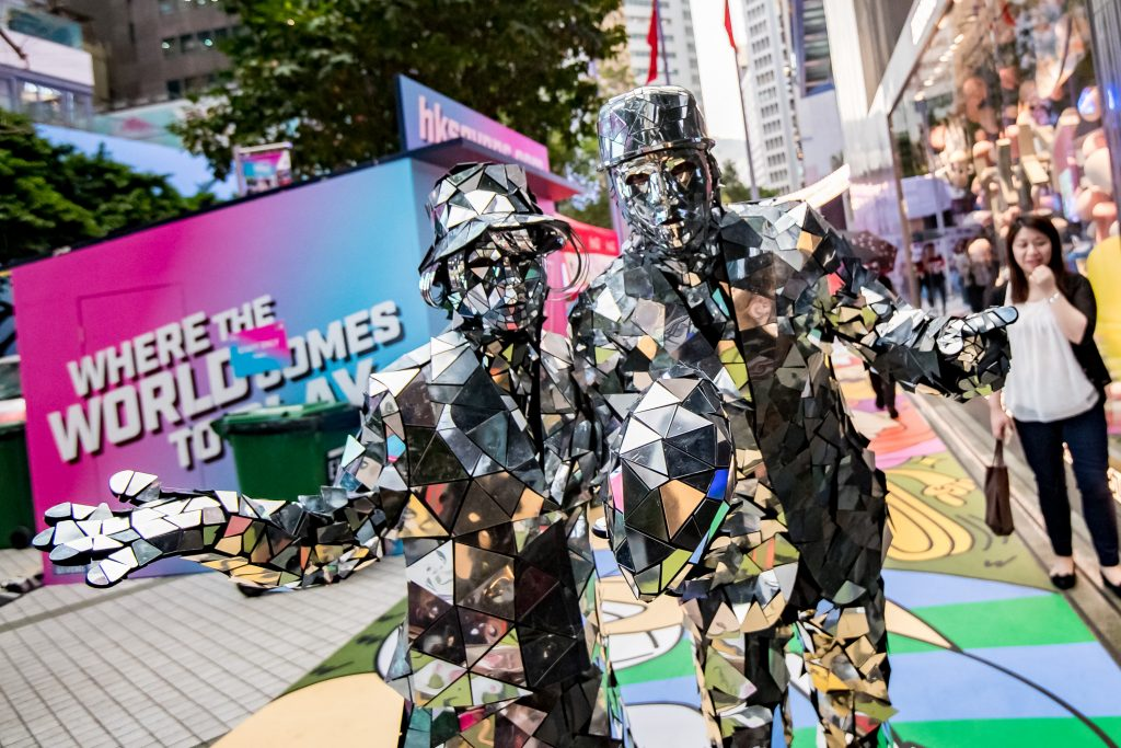 Lee Gardens Activities of Hong Kong Sevens 2018 at Lee Garden, Causeway Bay,, Hong Kong, on 6 April 2018, China. Photo by : Ike Li / Ike Images