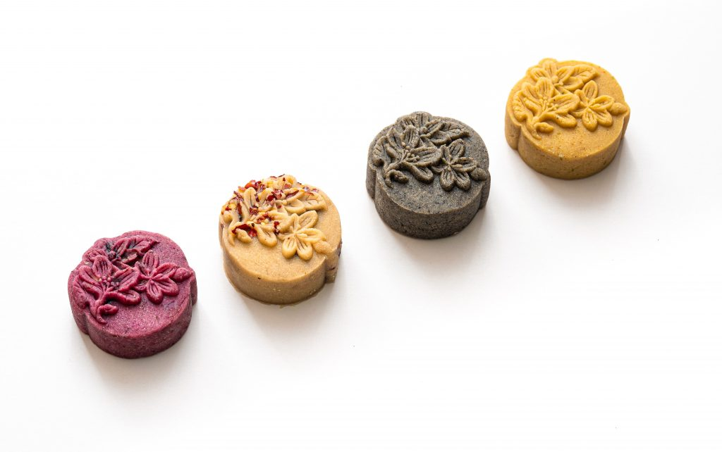 Four healthy mooncakes.