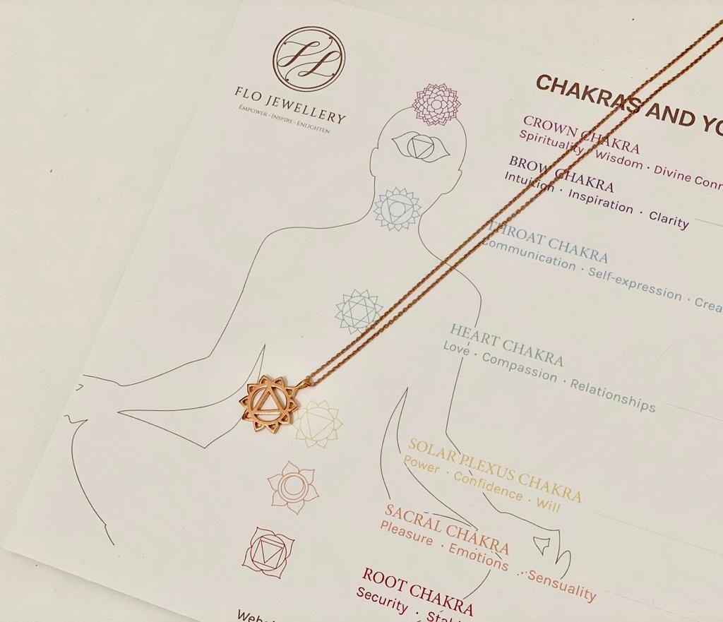 A solar plexus chakra pendant from Flora Chan, a chakra reader