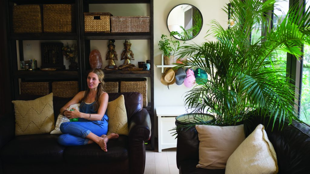 The living room of Imogen Dunn, a Hong Kong interior decorator.
