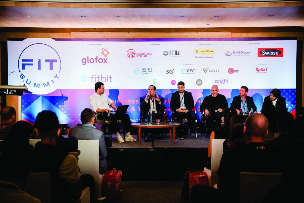 A panel of speakers at Asia Fitness and Wellness Summit event