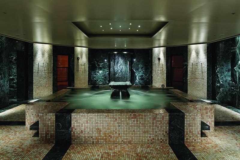 The jacuzzi at Park Hyatt Tokyo, a popular health and wellness destination.