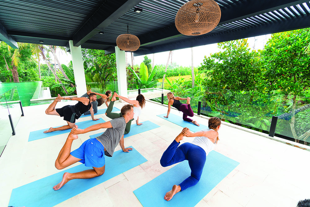 A yoga class at Escape Ritual in Bali.