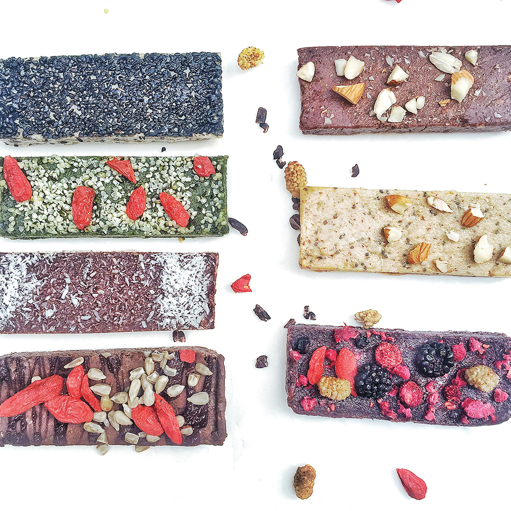 vegan protein and granola bars from Suphia's Functional Foods in Hong Kong