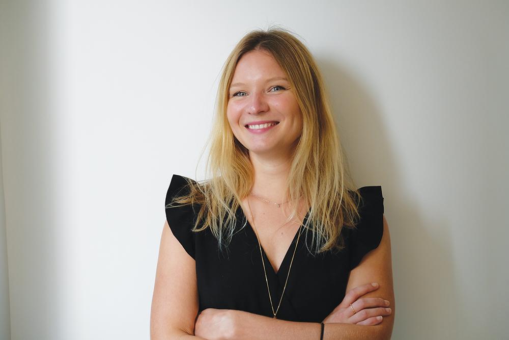 Solene Verrot, a maskne expert in Hong Kong