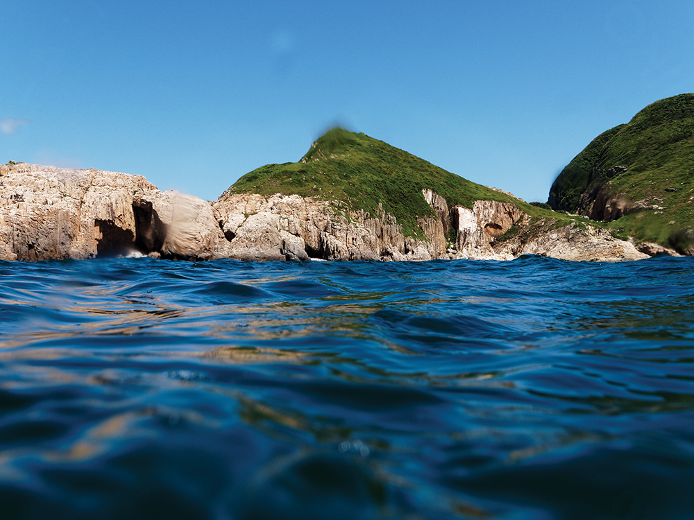 a popular scuba diving spot in sai kung, hong kong