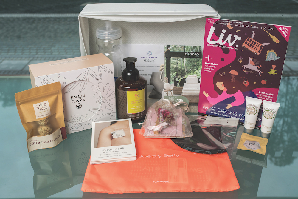 The Liv Well Retreat's premium welcome pack