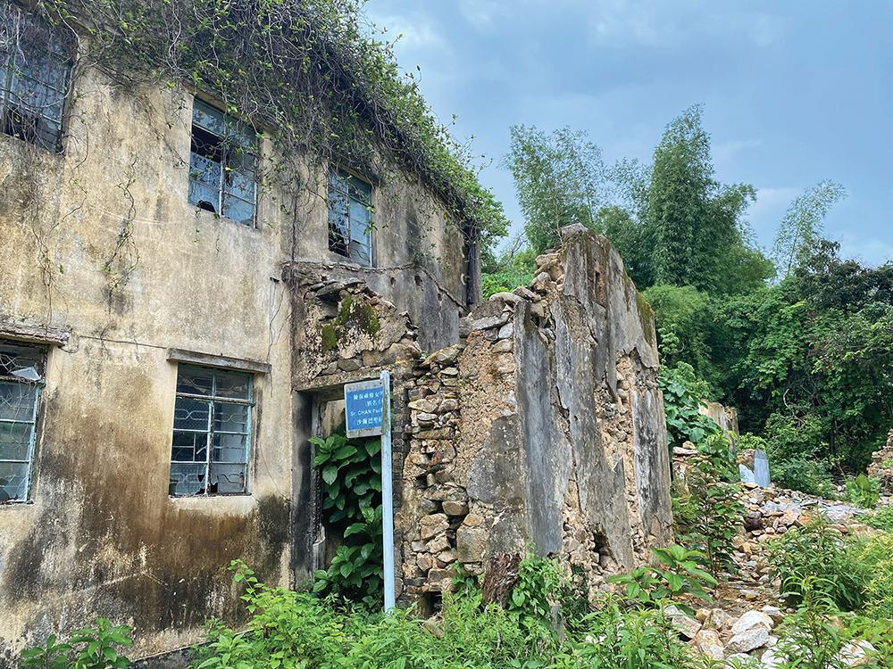 An abandoned Hakka village house on Yim Tin Tsai