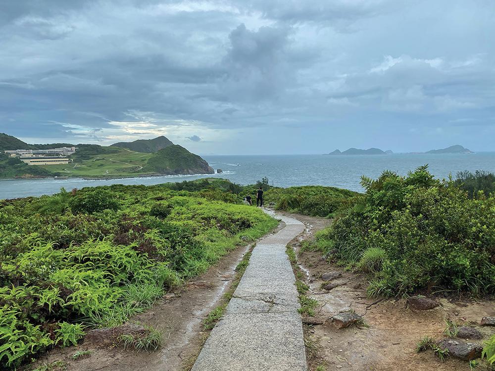 A paved walkway on Tung Lung Chau.